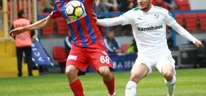 Spor Toto Süper Lig: Kardemir Karabükspor: 1 - Bursaspor: 2 (İlk yarı)
