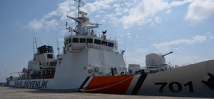 Sinop'a 'Dost' geldi TCSG Dost Gemisi Sinop Limanı'na demirlendi
