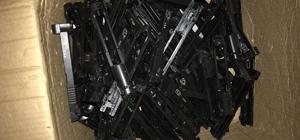 U.S.A ibareli 219 adet tabanca üst kapağı ele geçirildi