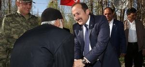 Vali Ali Hamza Pehlivan, Kore Gazisi Kemal Kalacoş'u ziyaret etti