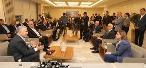 """Şahin, Ulaştırma Bakanı Arslan'ı ağırladı Bakan Arslan:""""Şahin'le Gaziantep ne yaptığını biliyor"""""""