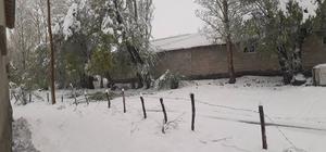 Yüksekova'da kar yağışı Nisan ayında etkili olan kar yağışı, kenti beyaza bürüdü