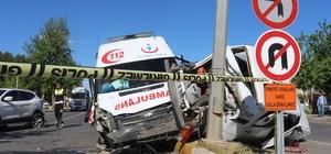 Adıyaman'da ambulansın da karıştığı zincirleme kaza: 5 yaralı