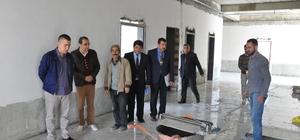 Kaymakam Aksoy okul inşaatlarını denetledi