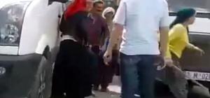 3 kadın, 1 adamı dövdü