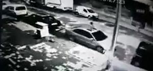 Aracın kundaklanma anı güvenlik kamerasına yansıdı