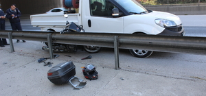 Adana'da polis memuru trafik kazasında yaralandı