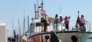 Sahil Güvenlik botu çocukların ilgi odağı oldu