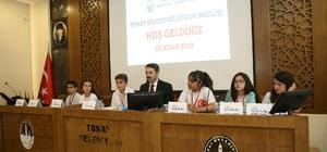 Tokat Belediyesi Çocuk Meclisi 23 Nisan'da toplandı