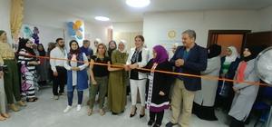 Suriyeli kadınlar sergi açtı