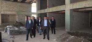 Başkan Asya, terminal inşaatında incelemelerde bulundu