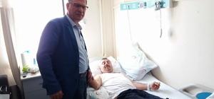 Başkan Duymuş'tan hasta ziyareti