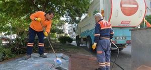 Muratpaşa'da çöp konteynerlerine özel temizlik