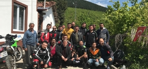 Niksar Motosiklet Kulübü üyeleri Afrin gazisini ziyaret etti