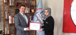 TÜBİTAK Türkiye ikincisi öğrencilerinden Yıldız'a ziyaret