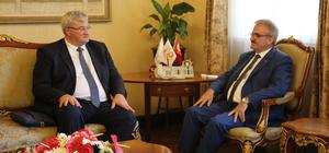 Ukrayna Büyükelçisi Sybiha, Vali Karaloğlu'nu ziyaret etti