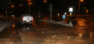 Patlayan su borusu ulaşımı aksattı