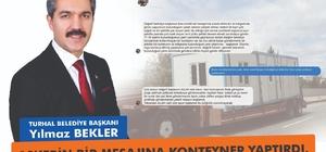 Belediye Başkanı, askerin bir mesajına konteyner yaptırdı