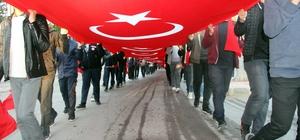 Kilis'te 57'nci Alay'a vefa yürüyüşü