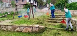 İzmit Belediyesi'nden köy parklarında onarım çalışması