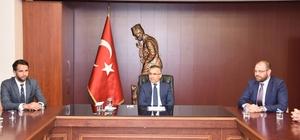 TSO Yeni Yönetiminden Vali Çeber'e ziyaret.