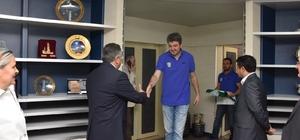 Belediyespor ekibinden başkana ziyaret