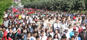 Yüzlerce kişi 57'nci Alay Vefa Yürüyüşü'ne katıldı