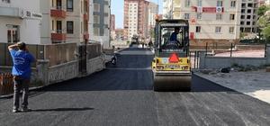 Talas asfalt çalışmaları devam ediyor
