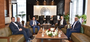 AK Parti İl Başkanı Özden KTO Başkanı Gülsoy'a hayırlı olsun ziyaretinde bulundu