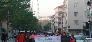 Kırıkkale'de 57. Alay'a vefa yürüyüşü