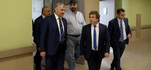 Başkan Çelik Şehir Hastanesini  ziyaret etti