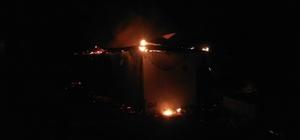 Yayla evinde yangın