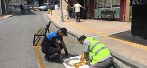 Anamur'da engelli araç park yerleri boyandı