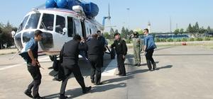 Jandarmadan helikopterli uyuşturucu operasyonu Bursa'da uyuşturucu ekim alanlarını helikopterle tespit ettiler