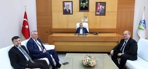 Rektör Yalçın Başkan Toçoğlu'nu ziyaret etti