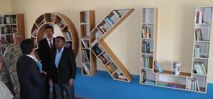 Çaldıranlı işadamından örnek davranış Doğup büyüdü mahalleye yaptığı kütüphane törenle hizmete açıldı