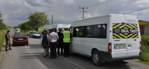 Kulu'da öğrenci servis araçları denetlendi