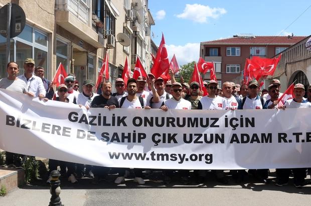 """""""Gazilik"""" talebiyle Ankara'ya yürüyorlar"""