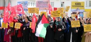 Yozgat'ta, İsrail ve ABD protesto edildi