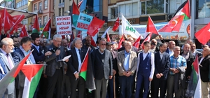 İsrail ve ABD Rize'de de protesto edildi