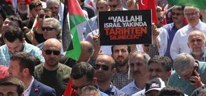 Kocaeli'de yüzlerce kişi Kudüs için bir araya geldi