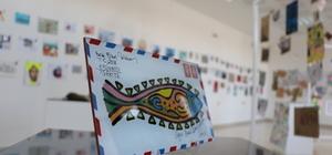 """""""Uluslararası Posta Sanatı Sergisi"""" açıldı"""