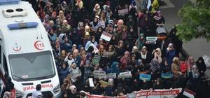 Bingöl'de binlerce kişi Kudüs için yürüdü