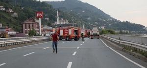 Karadeniz Sahil Yolu'nda tanker yangını