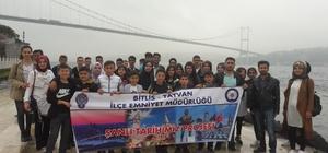 Tatvan Emniyet Müdürlüğü 40 öğrenciyi geziye gönderdi