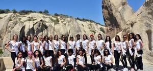 28 ülkeden gelen güzeller Kapadokya'yı gezdi