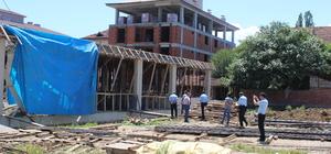 Tokat'ta inşaatta çökme: 2 yaralı