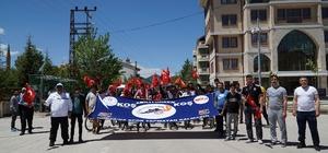 Derebucak'ta yürüyüş ve bisiklet etkinliği