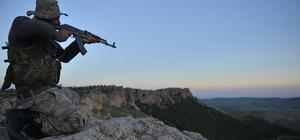 Güvenlik korucularının bin 100 rakımlı tepede ilk iftarı