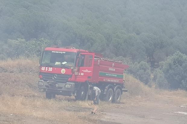 Kuyucak'ta yangın Çöplükte başlayan yangın araziye sıçradı Korku dolu anların yaşandığı yangında alevlerden kaçamayan hayvanlar telef oldu